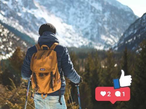 alpine gastgeber social wall